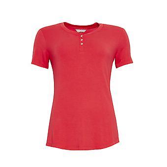 Cyberjammies 4458 Kvinnor & apos, Sophia Red Modal Knit Pyjama Top