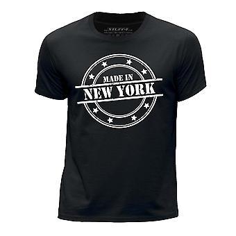 STUFF4 Boy's Round Neck T-Shirt/Made In New York/Black