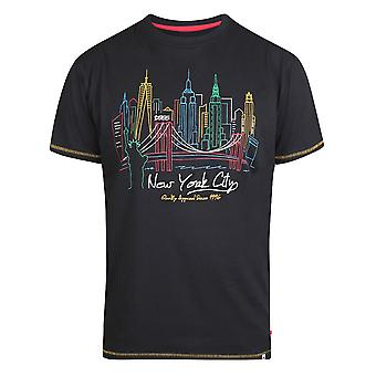 Duke Mens Shelby Kingsize New York Skyline T-Shirt
