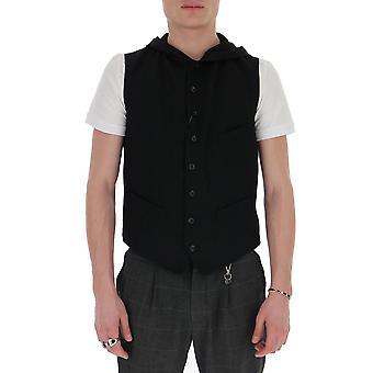 Yohji Yamamoto V011401 Men's Black Nylon Vest
