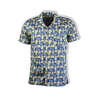 Far Afield Stachio Short-Sleeved Shirt (Limonada)