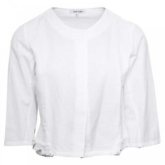 Alice Collins Grace White Edge To Edge Three Quarter Sleeve Jacket