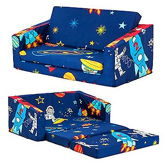 Space Boy Kids Flip Out 'Lily' Sofá Bed Sleep Over Fold Out Children's Muebles