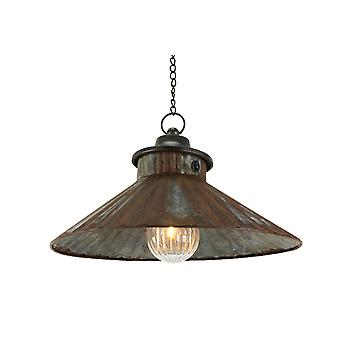 14 Inch LED Chain Hanging Lamp Rustic Battery Operated Indoor Aged Accent Light