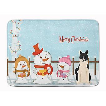 Merry Christmas Carolers Russo-European Laika Spitz Machine Washable Memory Foam
