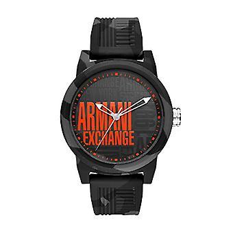 Armani Exchange Mens Quartz analog clock with Silicone strap AX1441