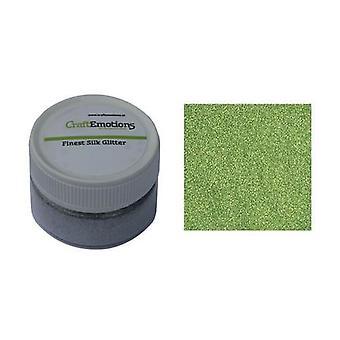 CraftEmotions Finest Silk Glitter light green 16gr