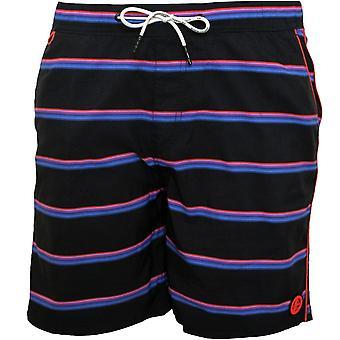 Scotch & Soda Multi Stripe Swim Shorts, Navy