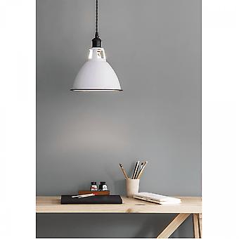 Jardin trading Albion Domed Pendant Light In White Enamel
