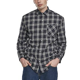 Urban Classics - Oversized Check shirt navy