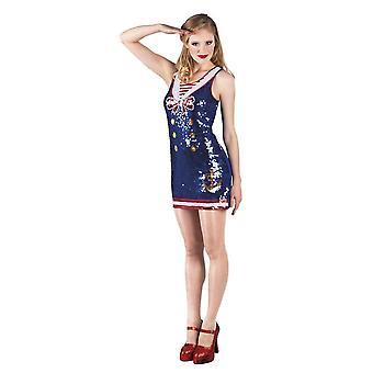 Womens Dazzle Pailletten Matrose Kostüm Kostümgröße 10-12