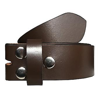 Sync with style unisex brown full genuine leather casual formal press stud snap on belt swslb6
