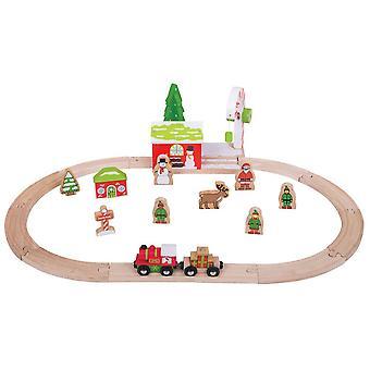 Bigjigs Dřevěná železnice Zimní Wonderland vlaková souprava