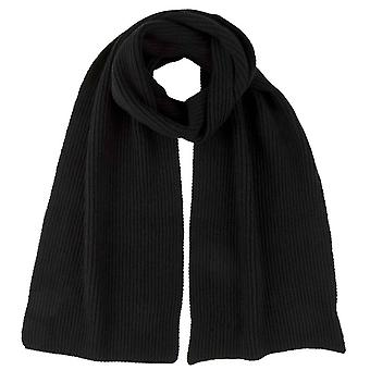 Johnstons of Elgin Full Cardigan Stitch Scarf - Black