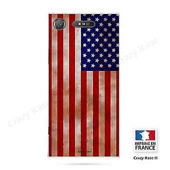 Rumpf für Sony Xperia Xz1 Flexible amerikanische Flagge Muster