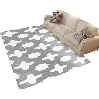 Quadratische Polyester Faser Teppich Einfache geometrische gedruckt Teppich Multifunktionale Teppich für Schlafzimmer und Wohnzimmer