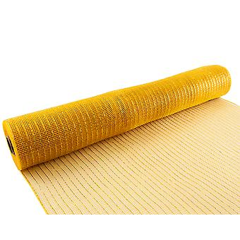 Metallic Gold 53cm x 9.1m Deco Mesh Roll for Wreath Making, Floristry & Crafts