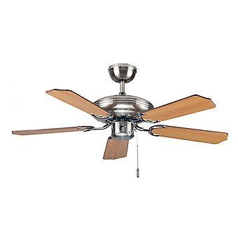 "Ceiling fan Steel-Star Slimline with pull cord 103cm / 41"""