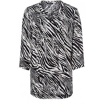 Olsen Zebra Print Blouse