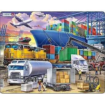Larsen Jigsaw Puzzle - Transport, 37 Piece