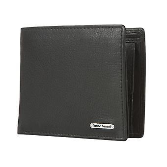 Bruno banani heren portemonnee wallet portemonnee black 1697