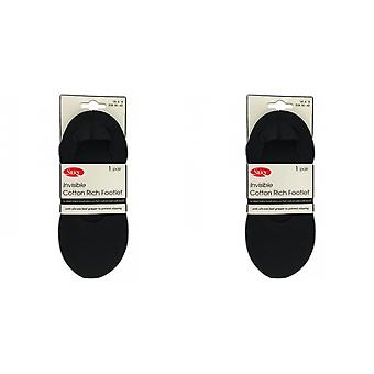 Silky Womens/Ladies Invisible Cotton Rich Footlets (1 Pair)