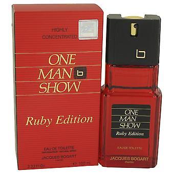 One Man Show Ruby Eau De Toilette Spray By Jacques Bogart 3.3 oz Eau De Toilette Spray