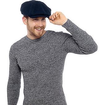 Tom Franks Mens Wool Blend Flat Cap