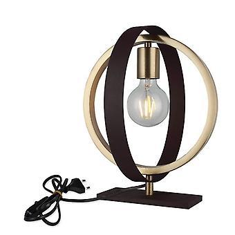 Lampada da Tavolo Tado Colore Oro, Marrone in Metallo, L18xP28xA31,5 cm