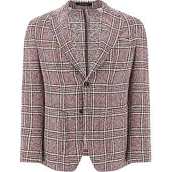 Pulito 9031magenta7 Men's Burgundy Linen Blazer