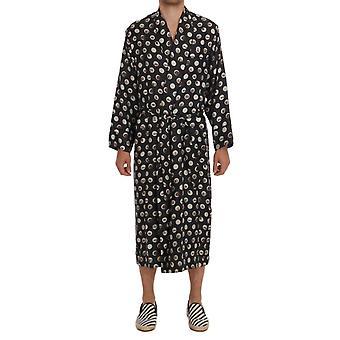 Dolce & Gabbana Šedý nástroj tisk hedvábný plášť