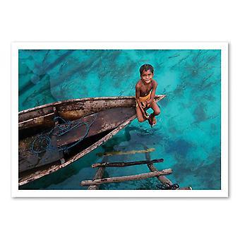 Cartel de arte - Bajau Boy - Hesham Alhumaid 50 x 70 cm