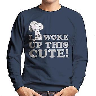 Peanuts Snoopy I Woke Up This Cute Men's Sweatshirt