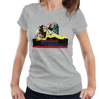 Hammer Horror films gravin Dracula Movie Poster vrouwen ' s T-shirt