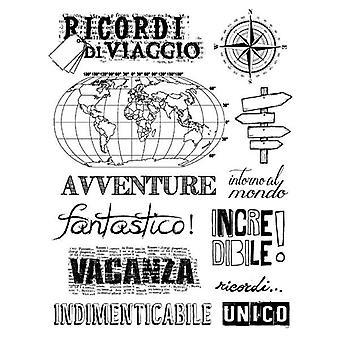 Recuerdos de viaje de sello de caucho natural (WTKCC94)