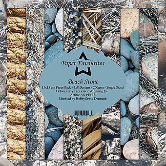 Paper Favourites Beach Stone 6x6 Inch Paper Pack
