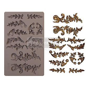Re-diseño con Prima Delicate Flora 5x8 pulgadas molde