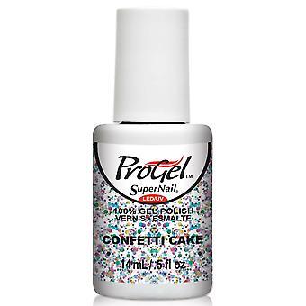 SuperNail ProGel Gel Nail Polish - Confetti Cake 14ml