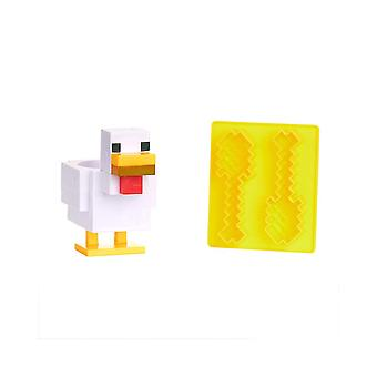 Official Minecraft Chicken Egg Cup and Toast Cutter Set