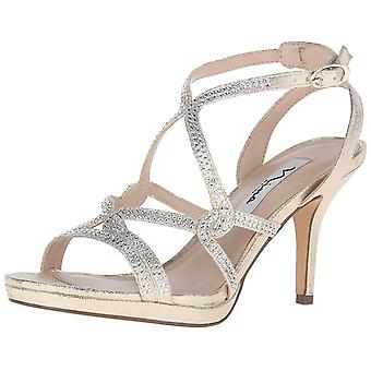 Nina Women's Shoes VARSHA-YF Leather Open Toe Casual Slingback Sandals