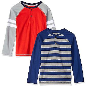 Brand - Spotted Zebra Boys' Little Kid 2-Pack Long-Sleeve Henley Shirt...