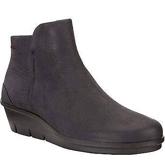 Ecco Womens Skyler Leather Casual Fashion Slip On Ankle Boots Schoenen - Zwart