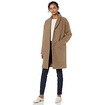 Brand - Daily Ritual Women's Oversized Wool Blend Cocoon Coat, Camel H...