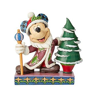 Jim Shore Disney Traditions Mickey Mouse Father Christmas Figurine