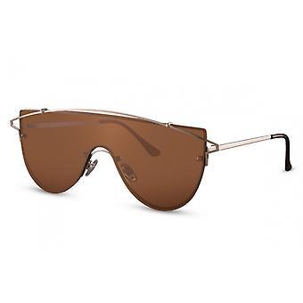 نظارات شمسية طيار Unisex Cat.3 الفضة / البني (CWI2113)