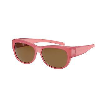 Sunglasses Women's Jumpsuit Pink with Brown Lens Vz0023lq