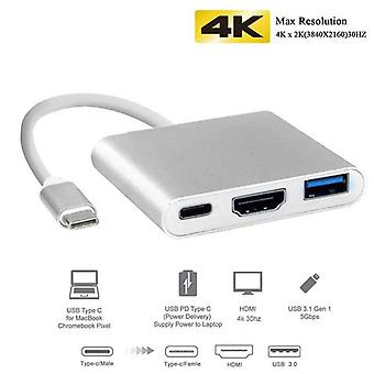 Uosible Thunderbolt 3 Adapter Usb Type C Hub To Hdmi 4k Support Samsung Dex Mode Usb-c Doce With Pd For Macbook Pro/air