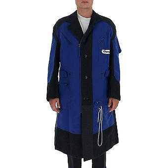 Junya Watanabe C0020511 Manteau de laine bleue pour hommes