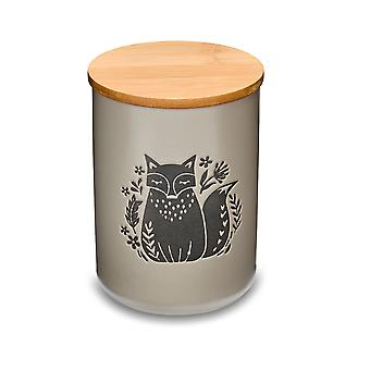 Cooksmart Woodland Large Canister, Putty
