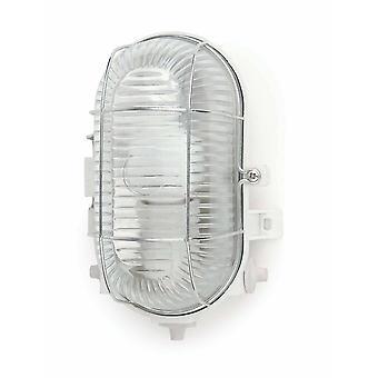 1 Light Outdoor Bulkheads White IP44, E27